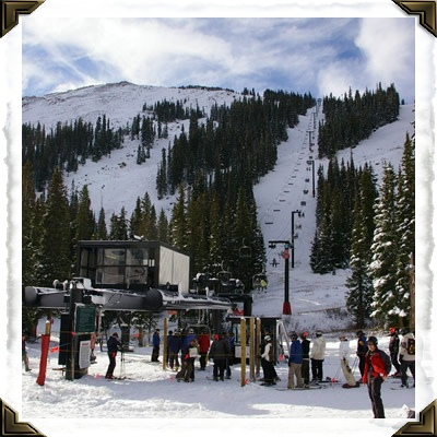 Skiing at Loveland Ski Area near Georgetown, Colorado